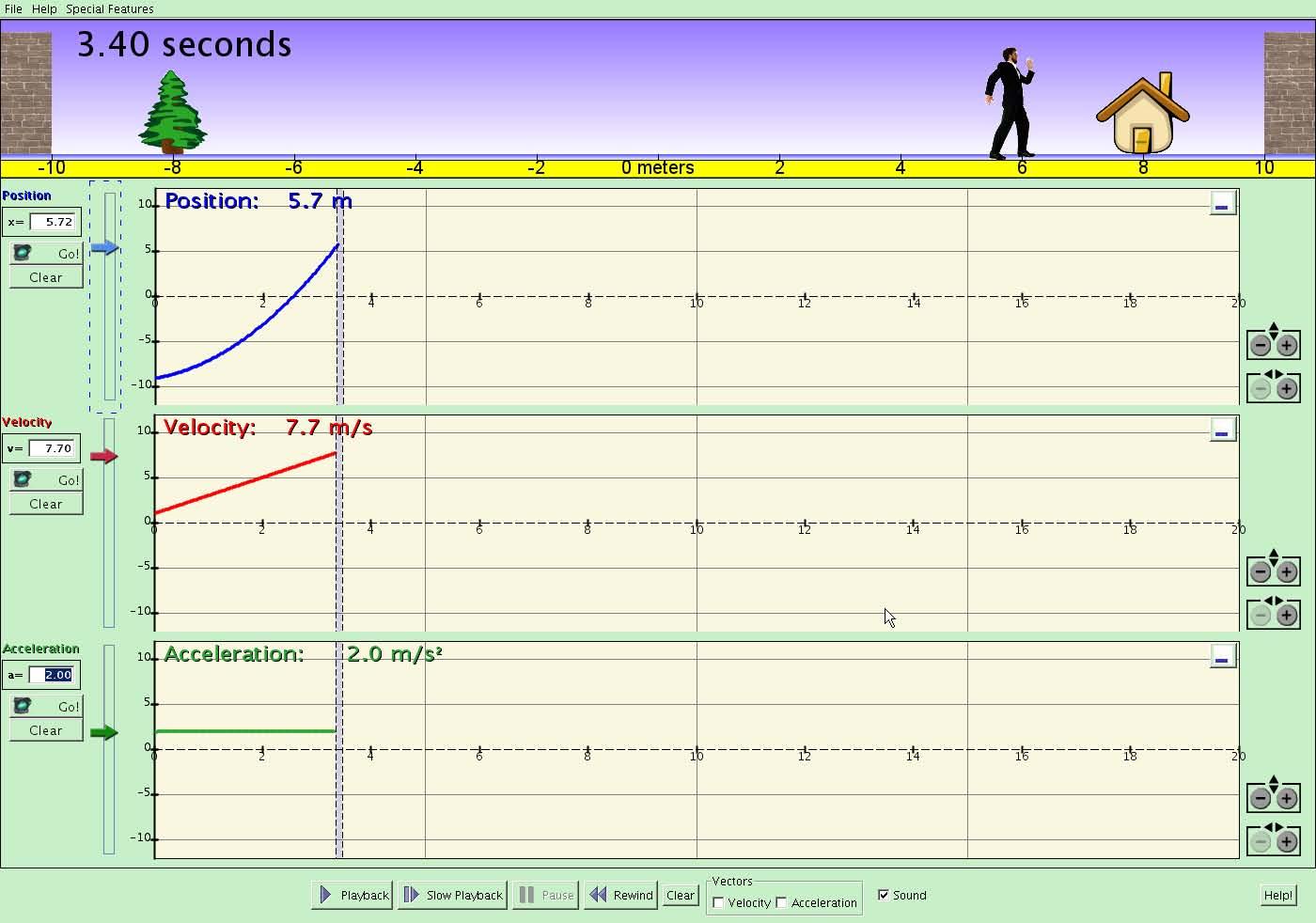 Motion Concepts Displacement Velocity Amp Acceleration Graphs