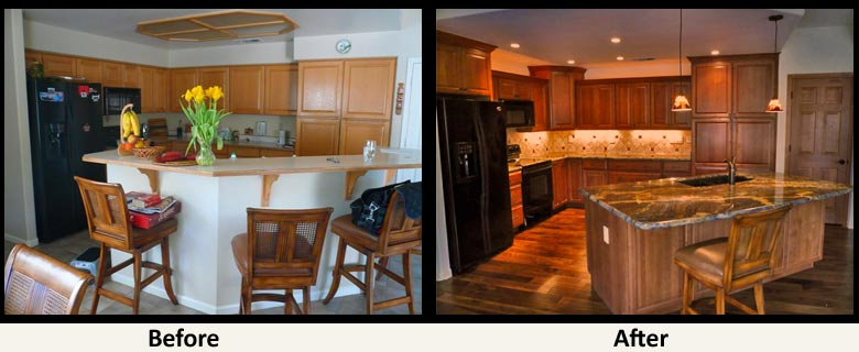 before after remodels and kitchen remodeling kitchen remodel before