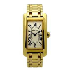 Ladies Cartier Tank Americaine in 18kt yellow gold