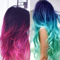 ombre hair with colour