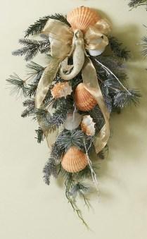 Christmas Mermaid Wreath