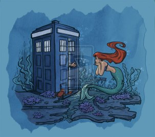 Ariel encontra Doctor Who pela artista Karen Hallion