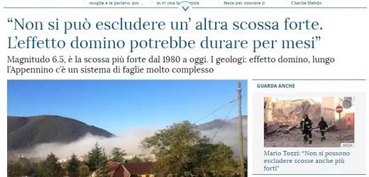 Sul terremoto gli esperti e i giornalisti hanno sempre ragione?