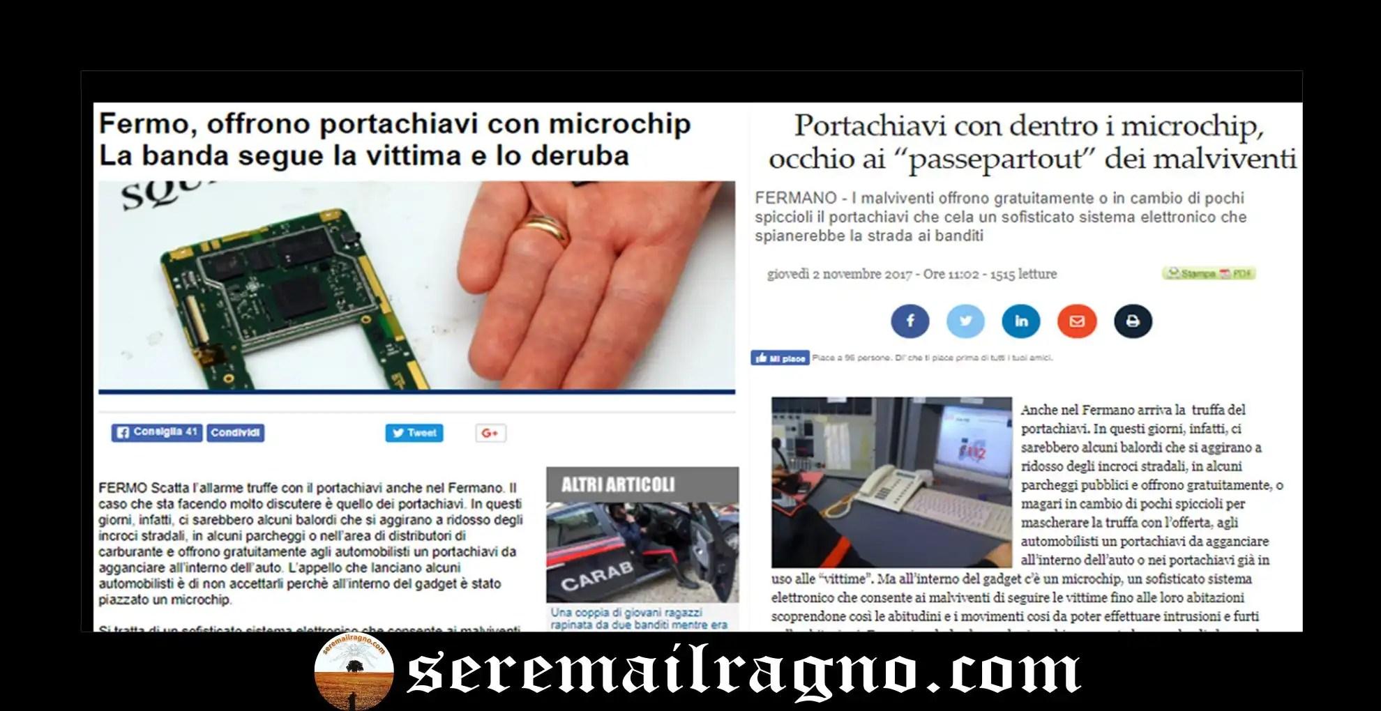 La fake news dei portachiavi con microchip sbarca nel fermano