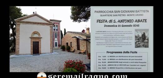 Monte Urano: Festa di S. Antonio Abate Domenica 21 Gennaio 2018
