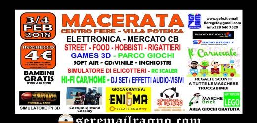 Fiera dell'elettronica di Villa Potenza: 3 e 4 Febbraio 2018
