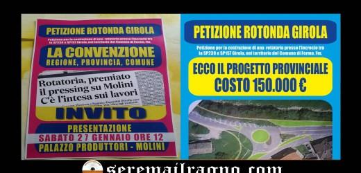 Petizione per la rotonda a Molini Girola