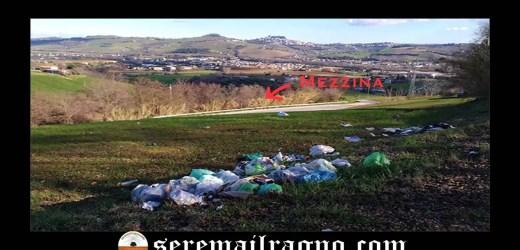 Strada Provinciale 9direzione Torre San Patrizio: rifiuti e degrado lungo la scarpata
