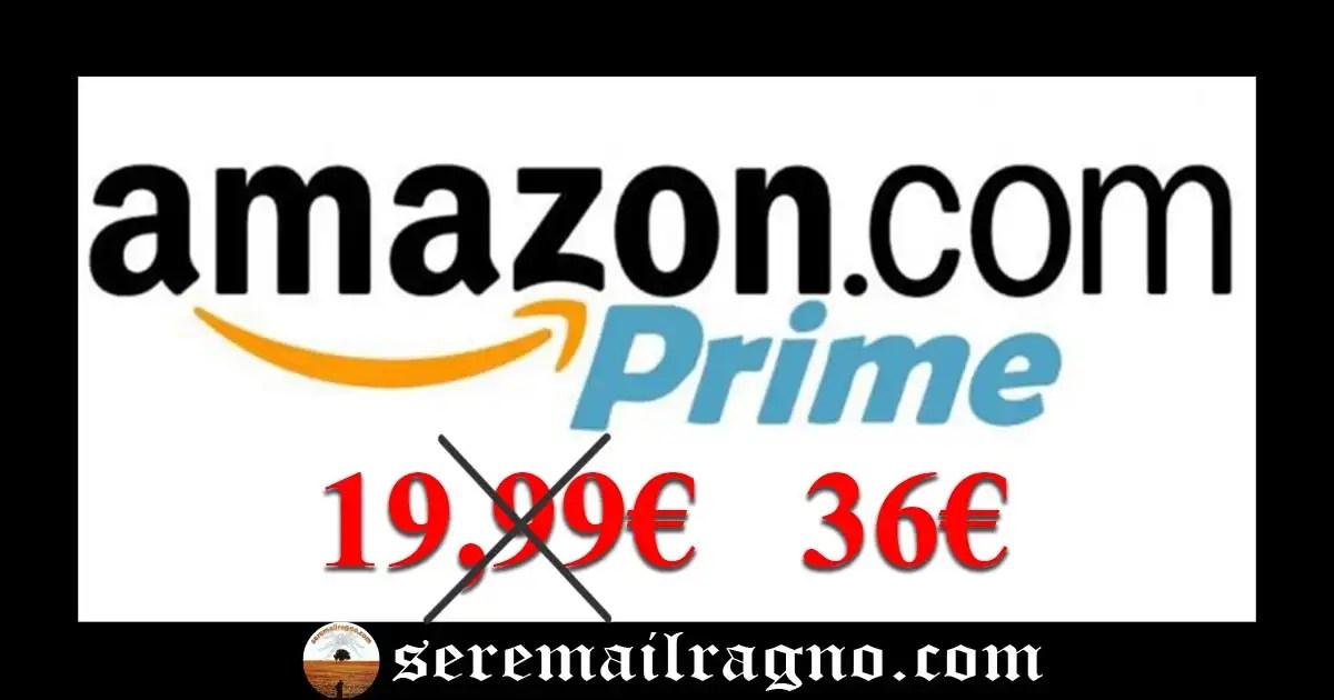 Amazon Prime rincara il costo dell'abbonamento