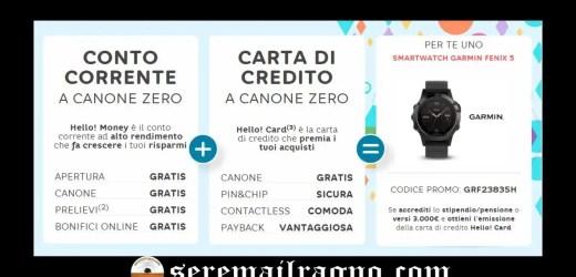 Hello Bank regala Garmin Fenix 5 del valore di 550€: realtà o network marketing?