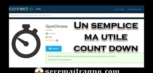 GymChrono: countdown timer per Garmin