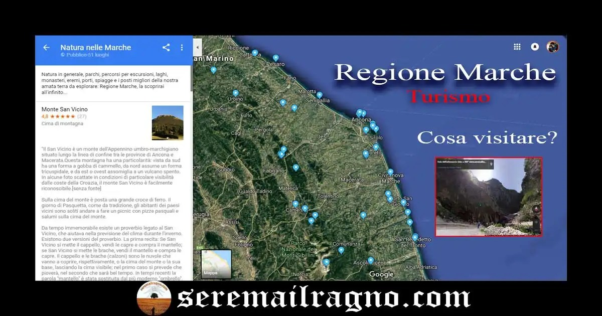 La top 50 dei luoghi da visitare nella Regione Marche