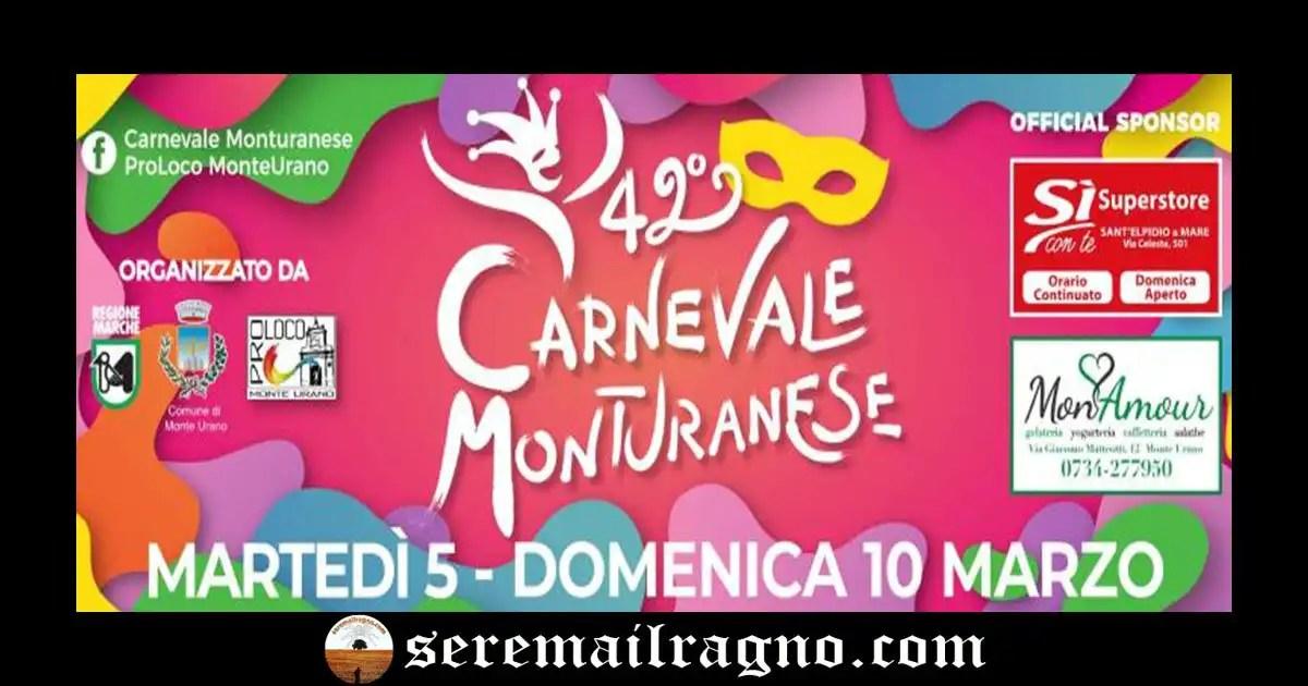 Torna la 42° Edizione del Carnevale Monturanese