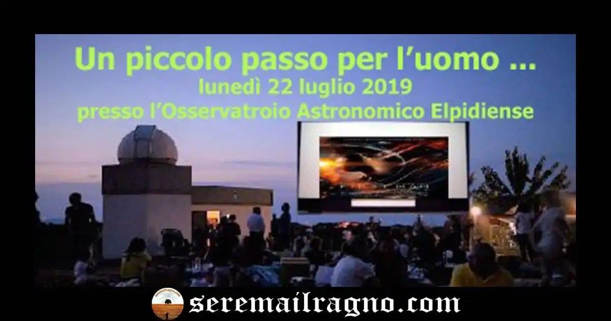 50° Anniversario dello sbarco sulla Luna – Osservatorio Astronomico Elpidiense
