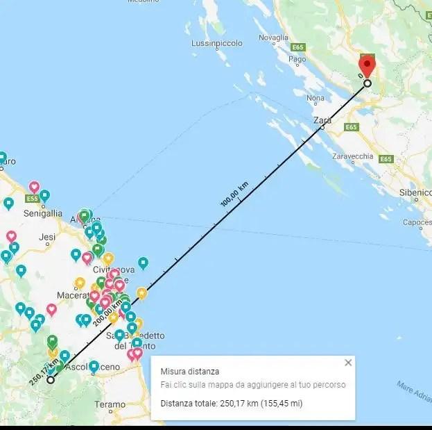 Croazia Sibillini distanza