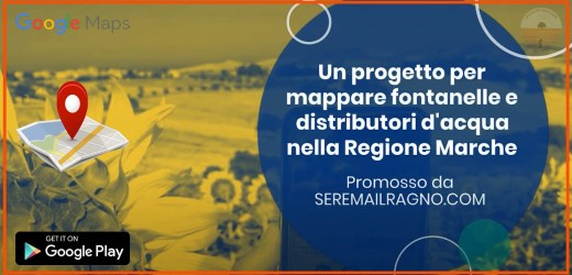 Un progetto per mappare fontanelle e distributori d'acqua nella Regione Marche – WATER DISPENSERS PROJECT