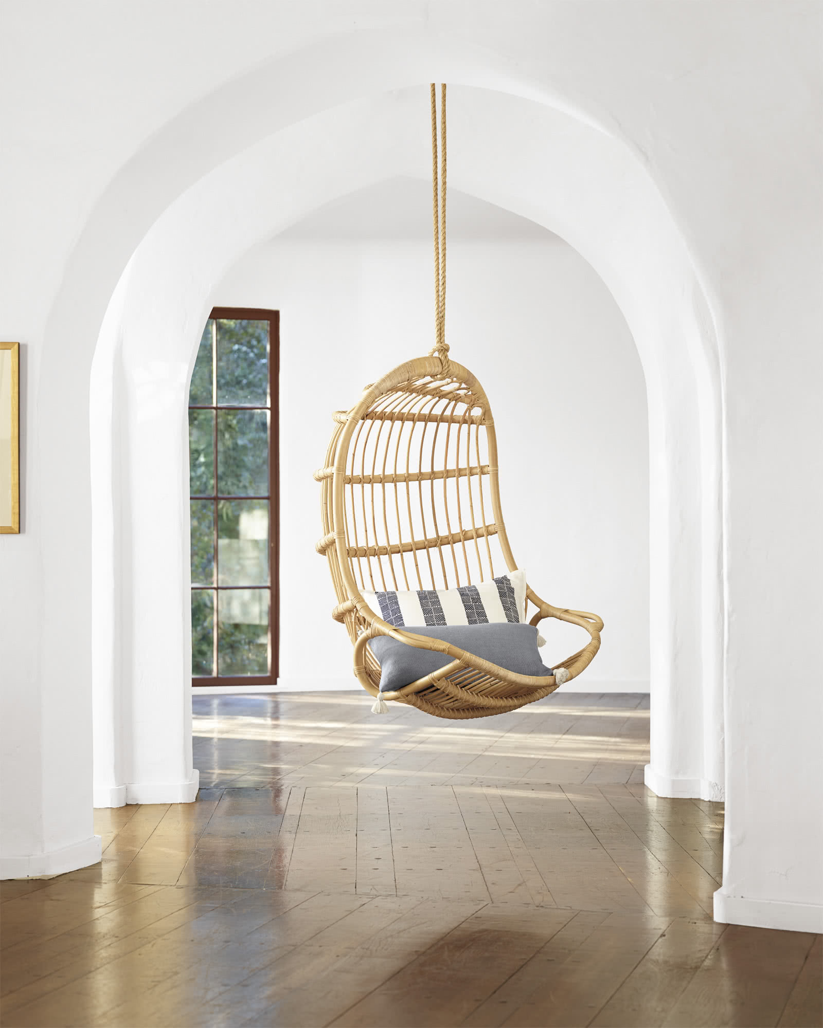 Hang Chair Hanging Rattan Chair Chairs Serena And Lily