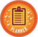 Wrimo's Planner badge