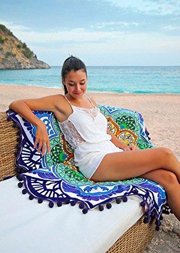 serviette de plage ronde bohème