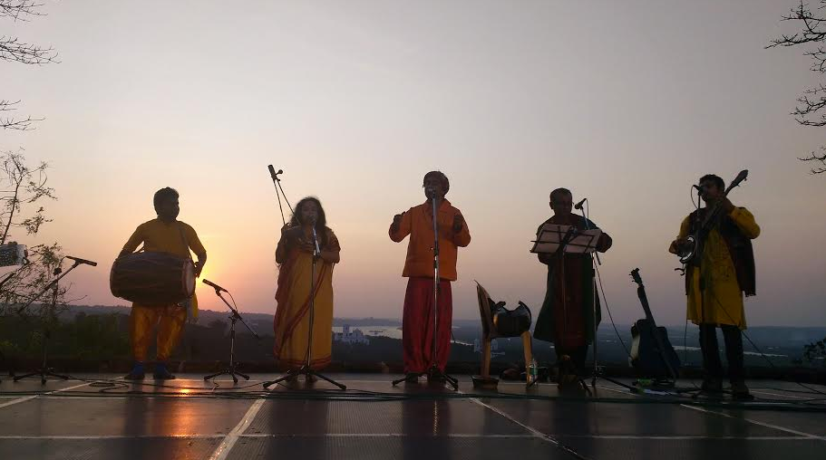 Indie Folk Ensemble, composed by musicians and performers from Assam, Bengal, Gujarati and Rajastan, performance at Monte Music Festival 2016