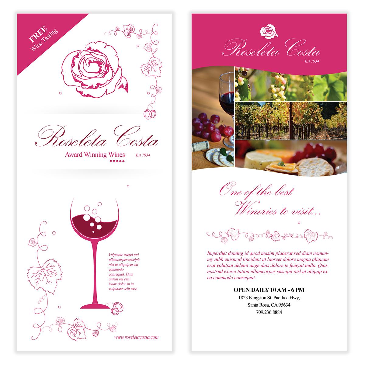 wine vineyard flyer template - Wine Brochure Template Free