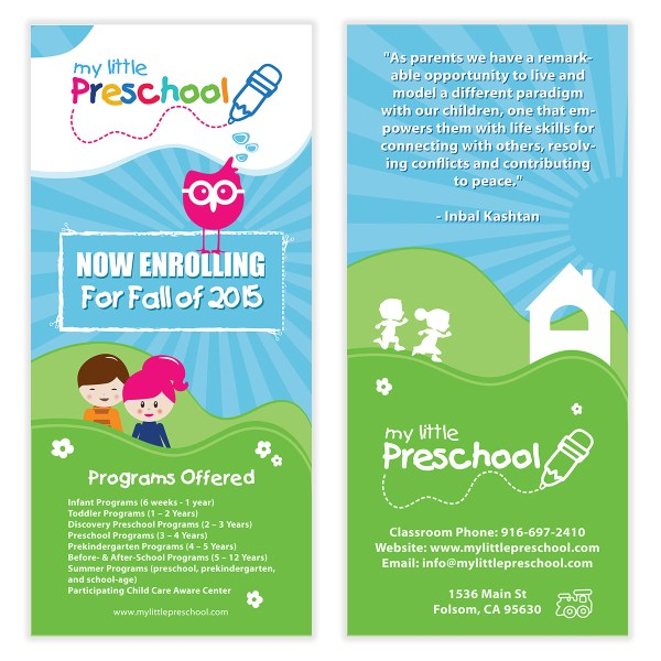 Kids Preschool Flyer Template