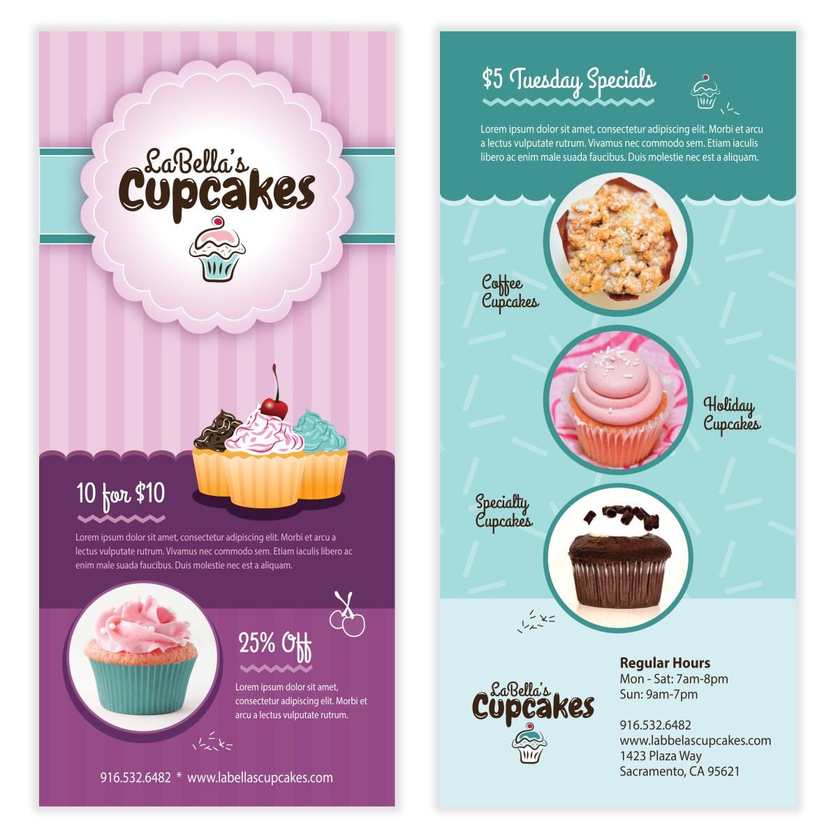 cupcake flyer template. Black Bedroom Furniture Sets. Home Design Ideas