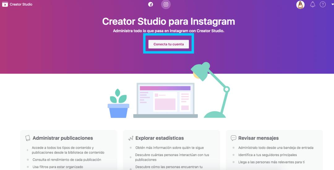 Facebook creator studio para Instagram