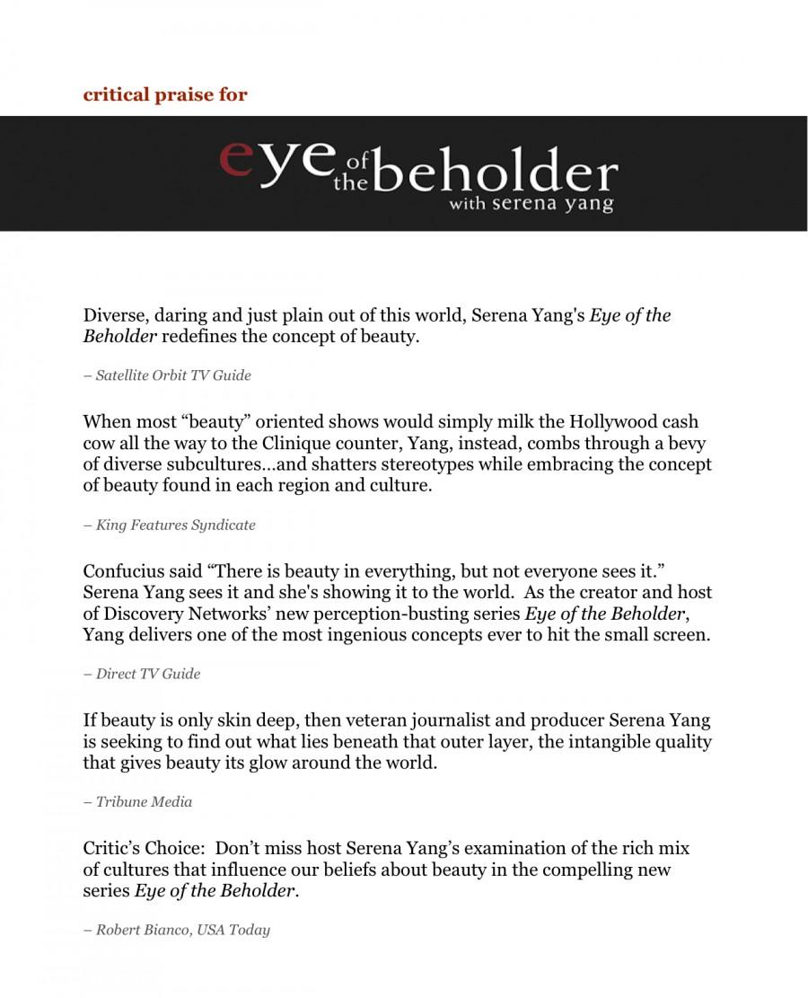 biography & press | Serena Yang
