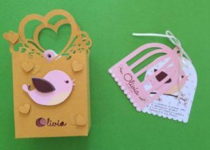 Invitaciones y packing para el primer añito de Olivia
