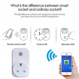 Sonoff S20 Smart Socket – Wifi Wireless Remote Control Socket Smart Timer Plug