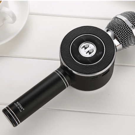 Handheld Bluetooth Wireless Karaoke Microphone Phone Player MIC Speaker Record Music KTV Microfone for iPhone PC