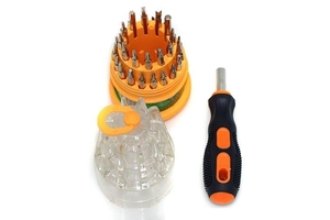 ELECTRONIC SCREW DRIVER SET 31 IN 1 (ROUND PACK)