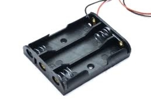 AA Battery Holder Case Box with Leads with 3 Slot Standard Battery Container