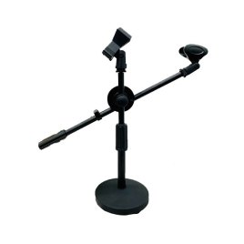 Universal Microphone Tripod Table Stand Sri Lanka Adjustable Microphone Clip Holder Detachable Double-headed Stage Microphone Stand (Model – TS09)
