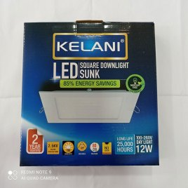 12 Watts Sunk Panel LED Light ? Square Cool White – 2 Years Warranty – Kelani Cable