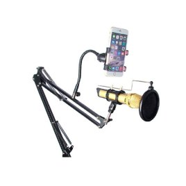 Mobile Studio Recording Microphone Stand With Adjustable Stand And Pop Filter in Sri Lanka