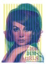 """Joanna Vecht, affiche Dum Dum Girls, sérigraphie 17,75 X 22,75"""". 2012. Droits réservés."""