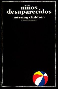 Niños Desaparecidos, documentaire d'Estela Bravo, affiche Eduardo Muñoz Bachs, 1985.
