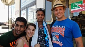Photo de groupe de retour de baignade, Jamal 2013.