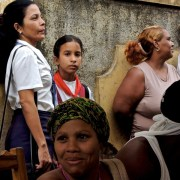 L'heure de la sortie des classes, Baracoa 2012.