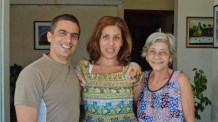 Roberto, Maria et Alicia en 2012. Les jours heureux.