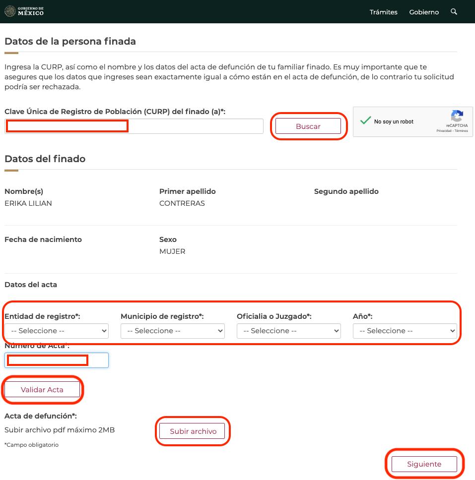 Registro para el apoyo deudos COVID-19 del gobierno federal