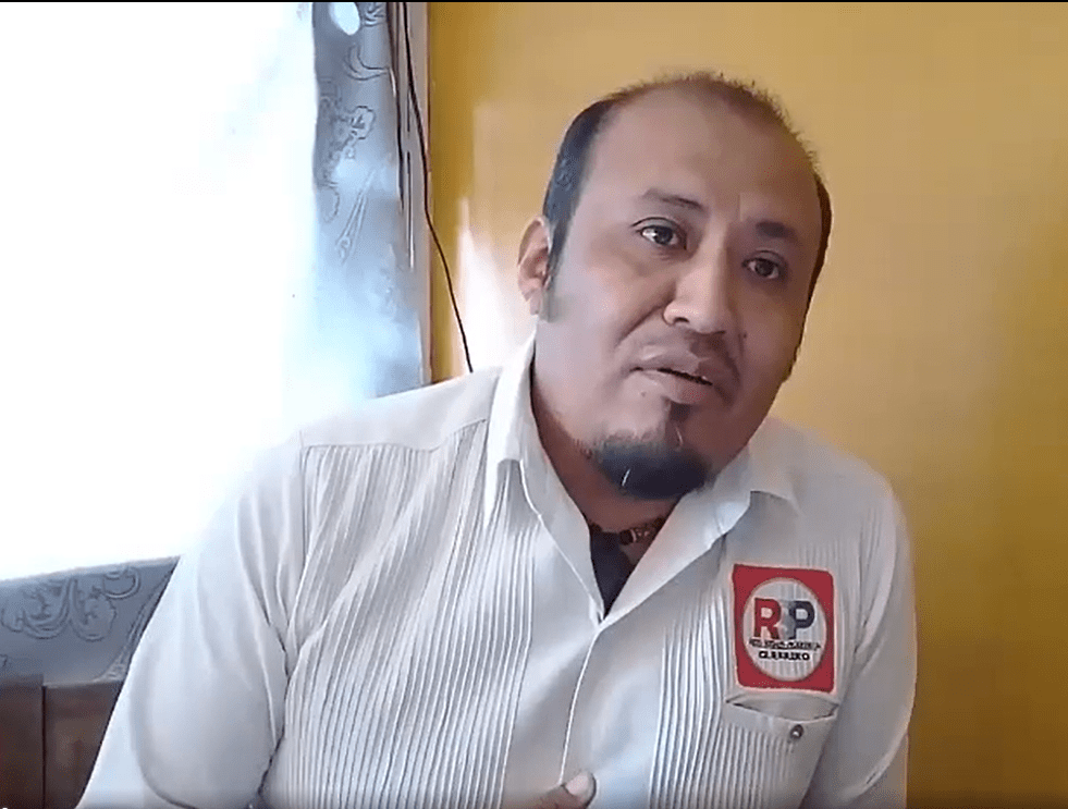 Ambrocio Guzmán, uno de los candidatos a gobernador en Guerrero