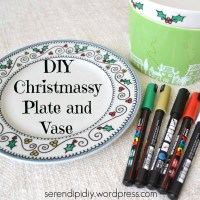 DIY Christmassy Plate and Vase 🎄🍽🖌