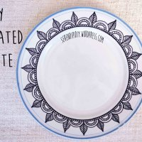 DIY Decorated Plate 🍽 ✍🏻