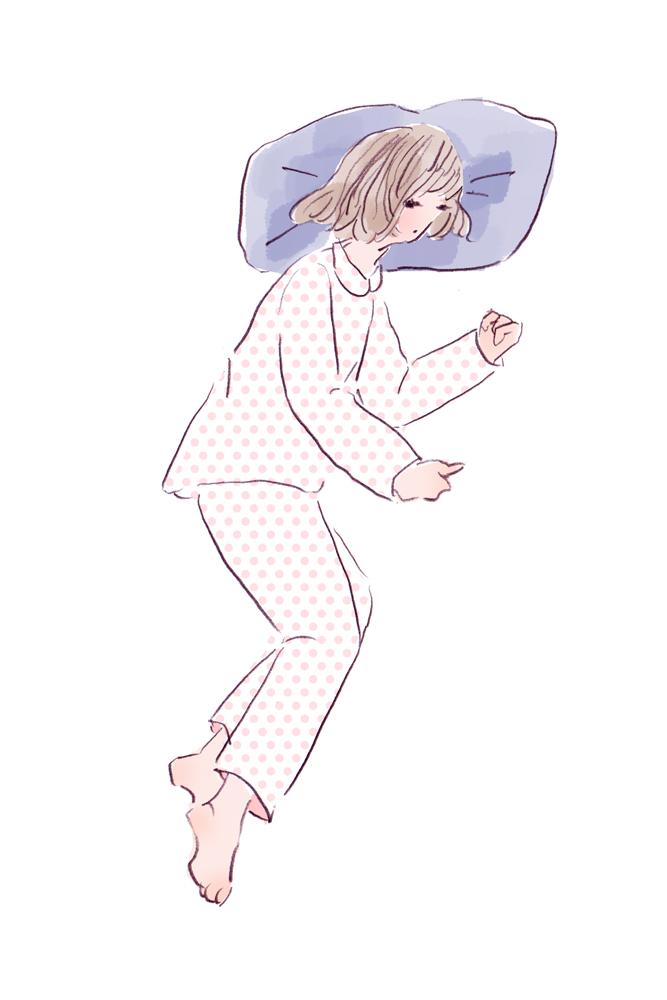 横向きで足を少し曲げる寝相