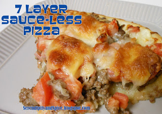 7 Layer Sauce-Less Pizza