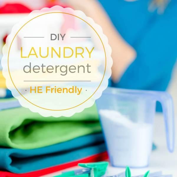 HE Friendly DIY BEST Laundry Detergent Recipe
