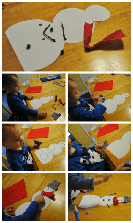 holiday toddler craft snowman